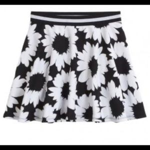- - Host Pick Justice Black and white floral skirt